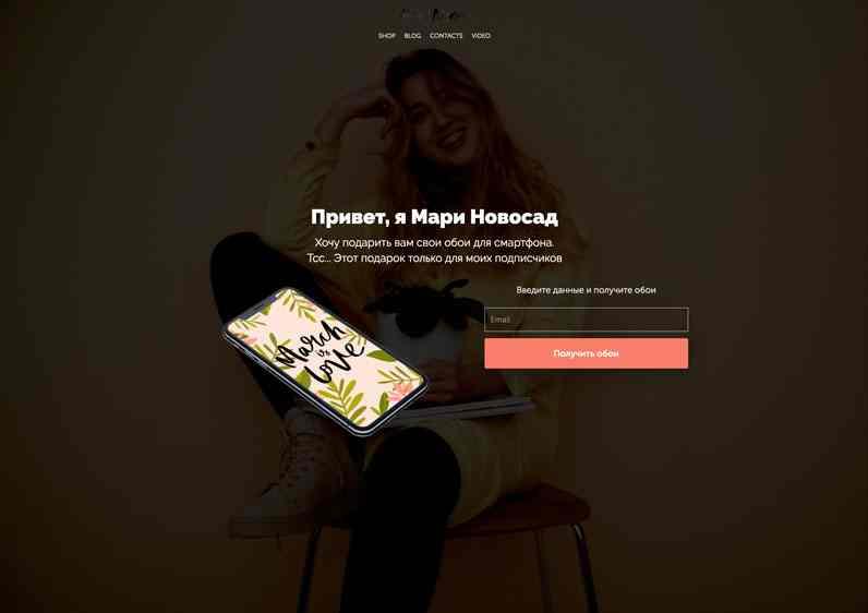 Лид магнит воронки продаж Марии Новосад