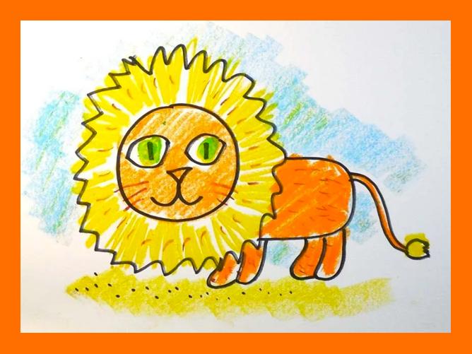 Как нарисовать львенка