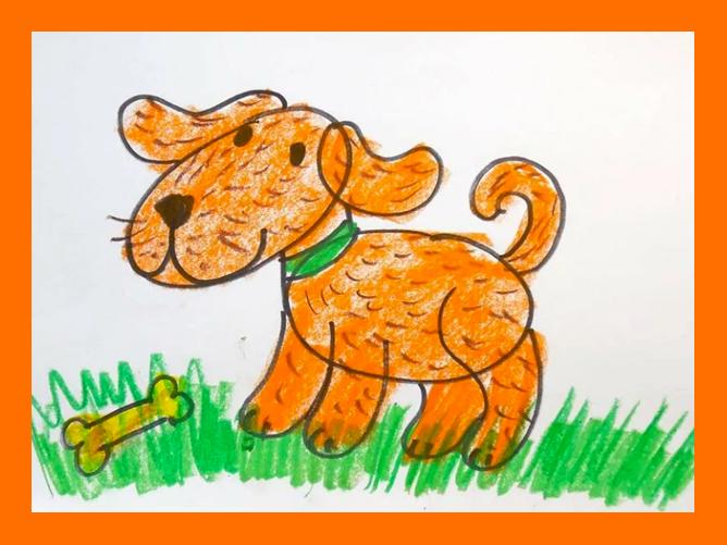 Как нарисовать собачку