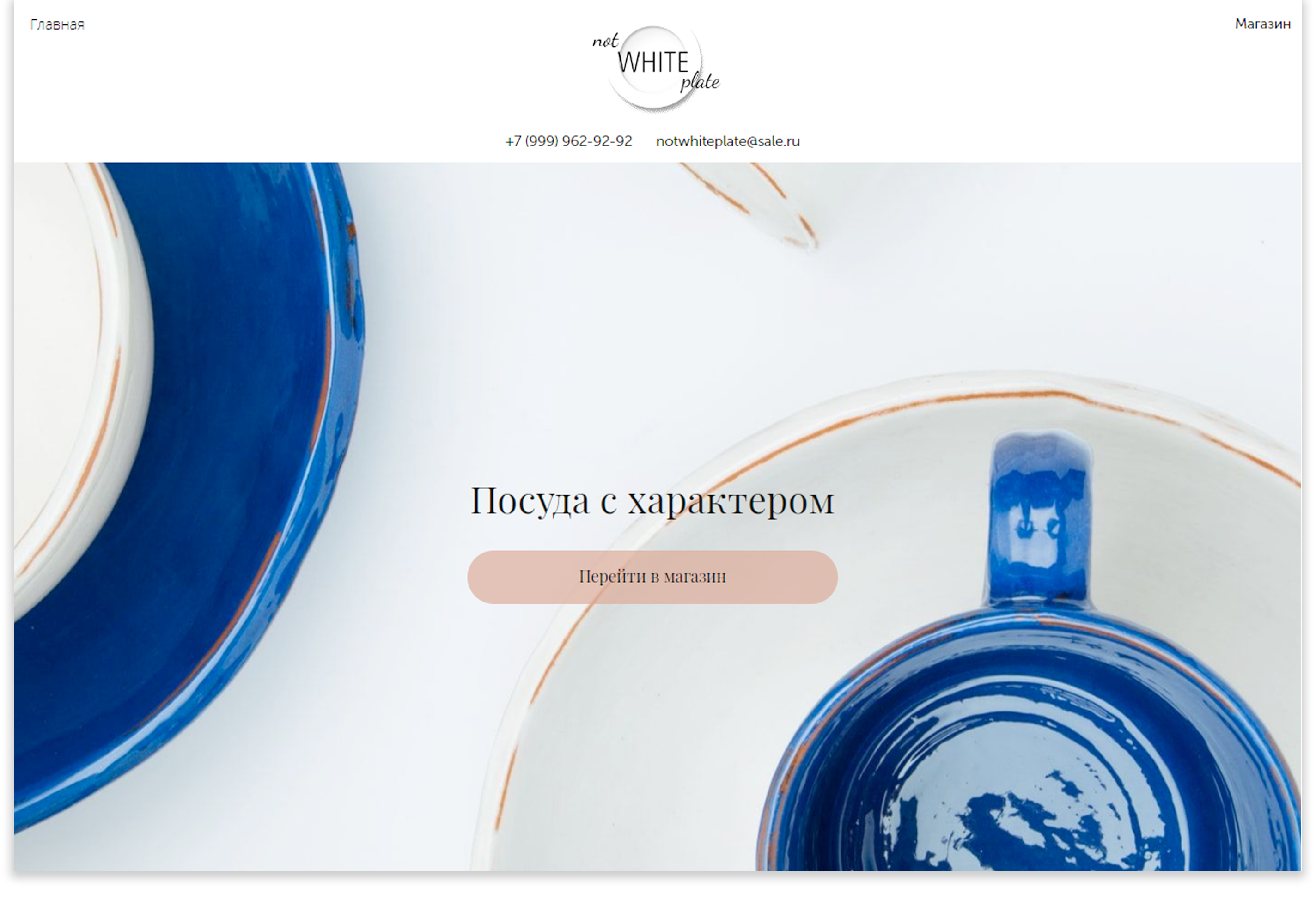 A Not White PlateИнтернет-магазин для продажи авторской посуды