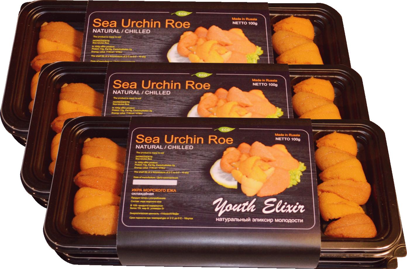水産物グルメ(ウニ)の包装優れた技術がウニの高品質を保証