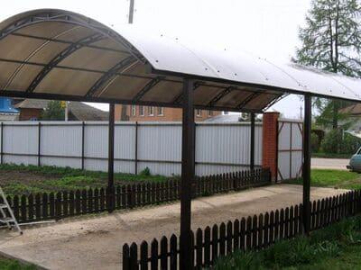Навес двухскатный дугой34 кв. метровпоселок Магистральный