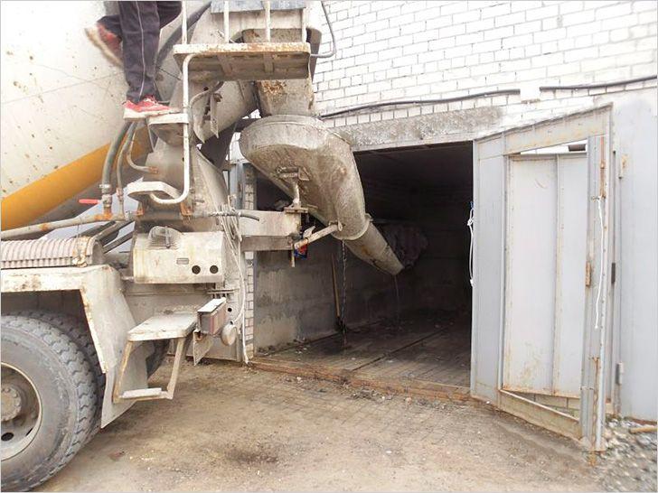 Заливка бетона для пола в гараж