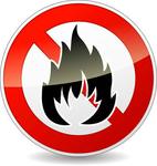 Не поддерживает горение. При температуре +260 °С обугливается, при 800 °С разлагается с выделением окиси углерода и окиси азота, что способствует замедлению распространения пламени