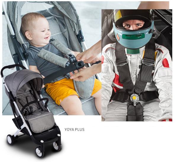 БезопасностьВ модели YOYA Plus установлены 5 точечные ремни безопасности, что позволяет надежно зафиксировать нашего малыша!