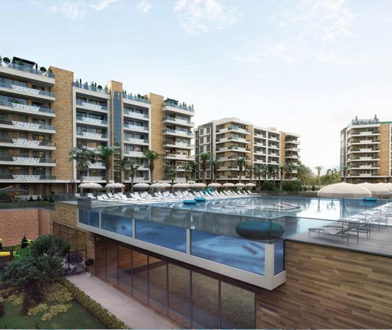 Эксклюзивный бассейн Один из крупнейших бассейнов в Анталии 540 м² с панорамным видом