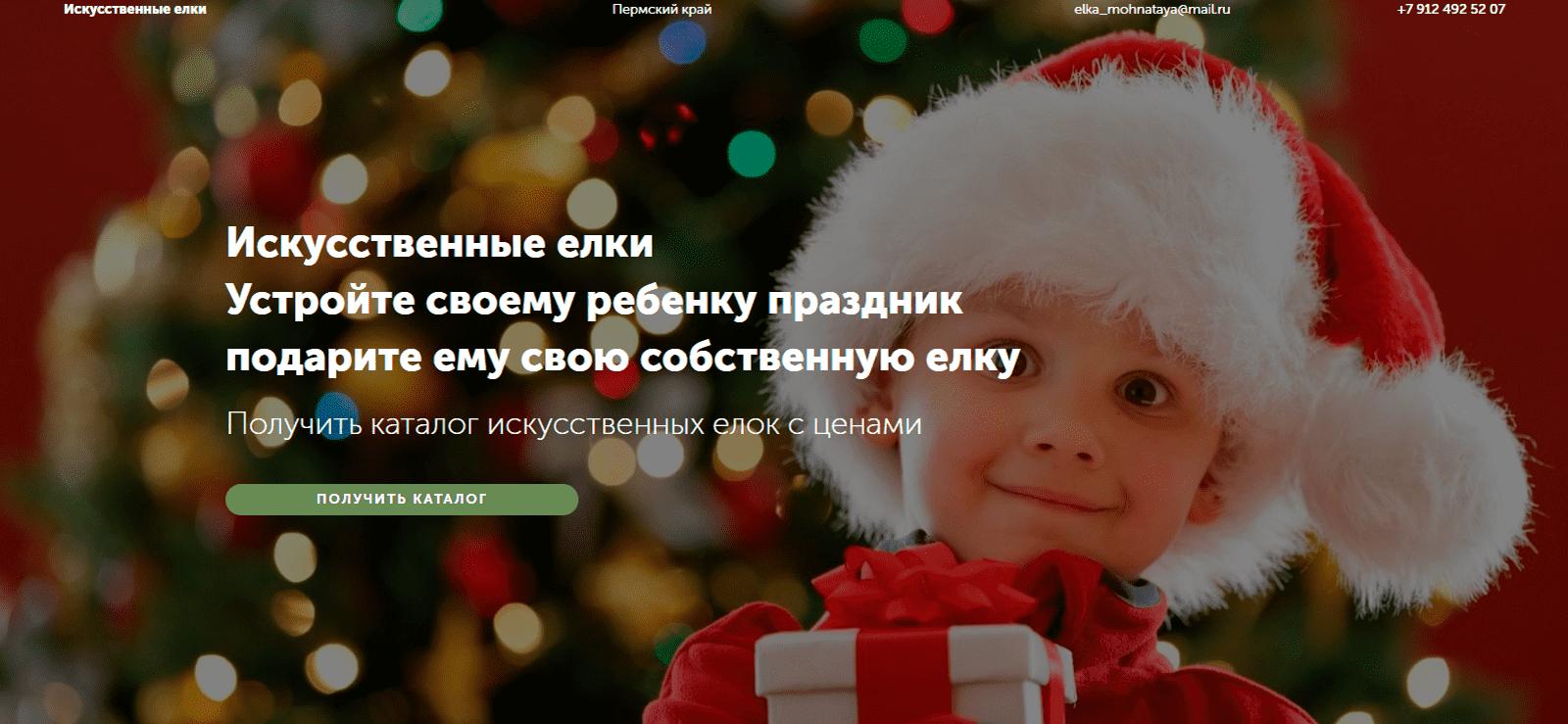 Продажа искусственных елок в ПермиСтоимость заявки:78 руб.Конверсия:16%