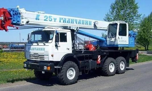 Автокран — 25 тоннМаксимальный вылет стрелы - 28 метровЦена: 1 650руб/час