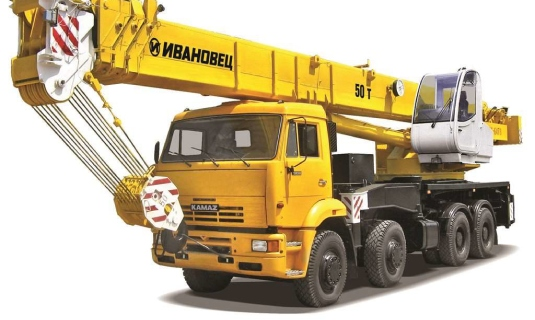 Автокран — 50 тоннМаксимальный вылет стрелы - 46 метровЦена:Договорная