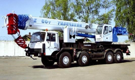 Автокран — 60 тоннМаксимальный вылет стрелы - 50 метровЦена:Договорная