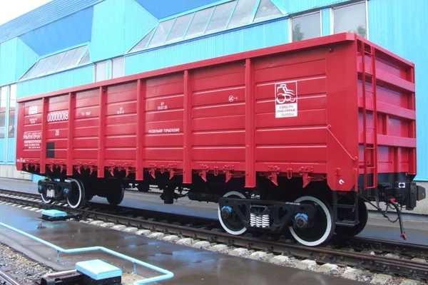 ПолувагонДля перевозки навалочных грузов (руды, уголя, флюсов), контейнеров, различных машин, а так же длинномерных грузов – леса, проката.