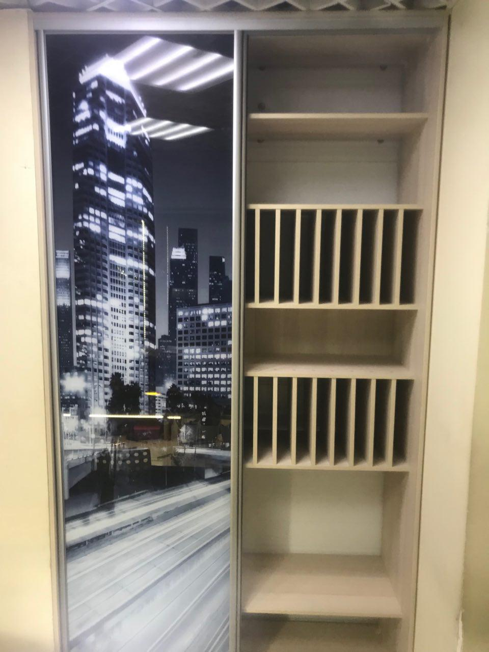 Встроенный шкаф-купе с фотопечатью Ночной Нью-Йорк читать отзыв