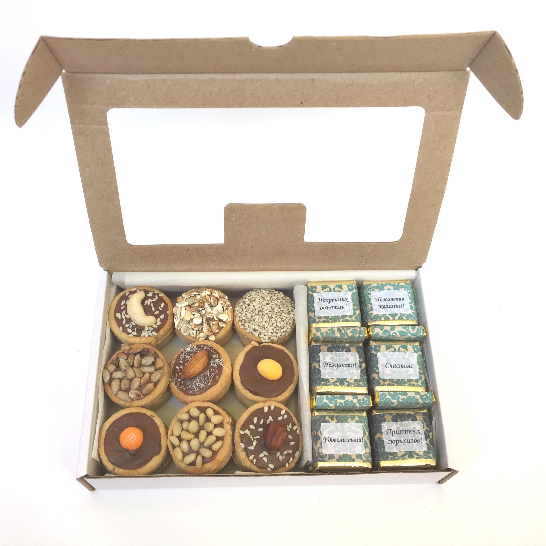 Набор №10. Состав: конфеты (20 шт.) + печенье ассорти (12 шт.)