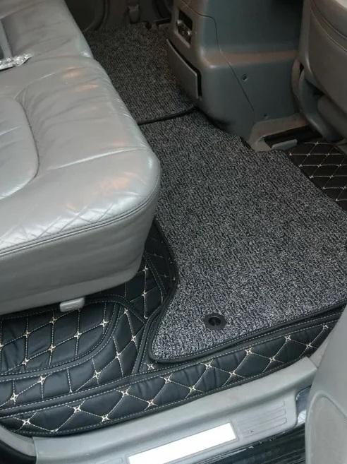 3D автоковрики из экокожи в салон автомобиля Lexus LX 470