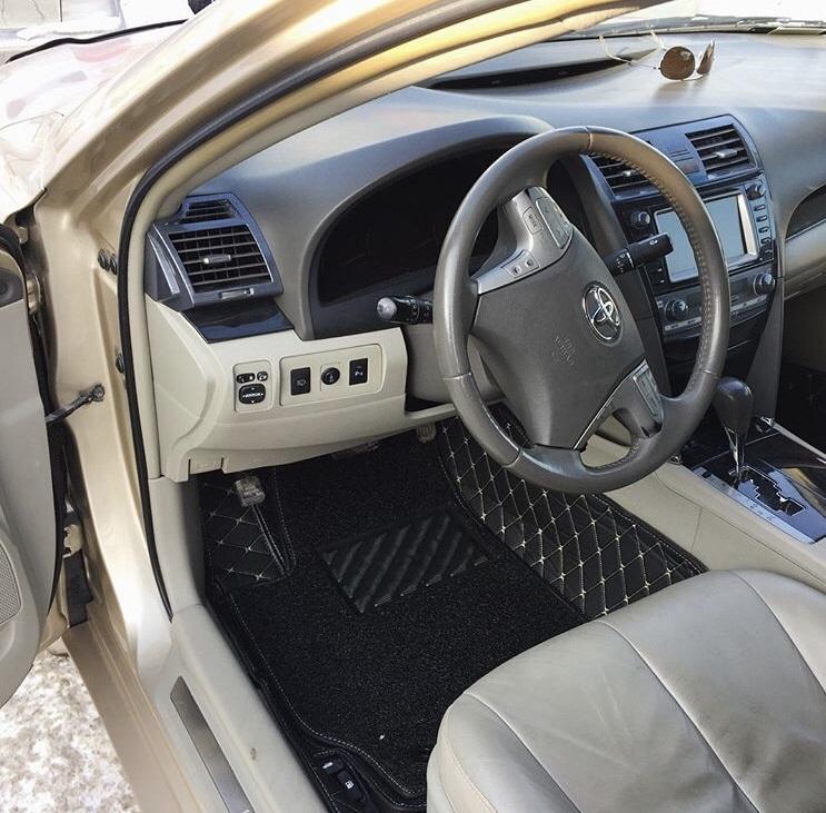 3D автоковрики из экокожи в салон автомобиля Toyota Camry XV40 (2006-2011)