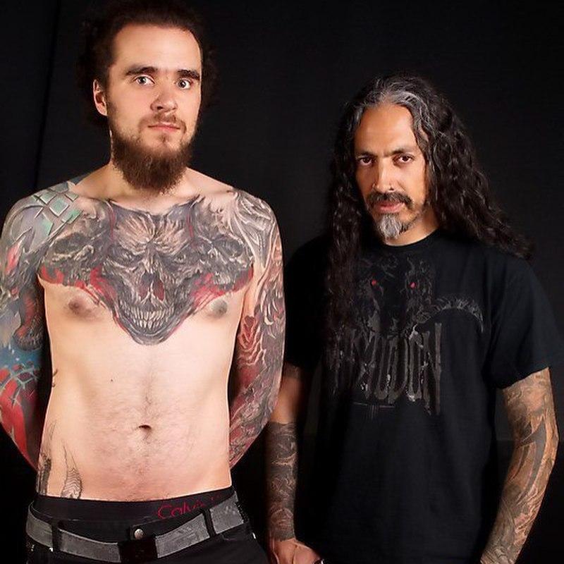 С Виктором Португалом - всемирно-известным татуировщиком.