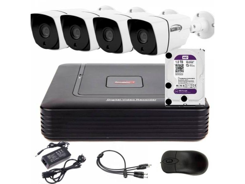 4 AHD камеры и регистратор