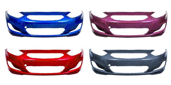 Бампера Hyundai Solaris в цвет