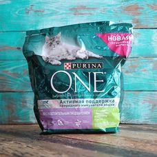 Сухой корм для кошек с чувствительным пищеварением активная поддержка ONE