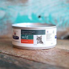 Корм для кошек Hill`s Prescription Diet w/d Digestive/Weight Management для склонных к набору веса и кошек с диабетом с курицей
