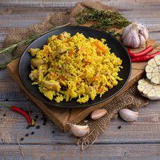 Плов узбекский с курицей и овощами
