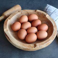 Яйца куриные фермерские коричневые, 10 шт в упаковке