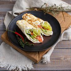 Омлет-ролл овощной