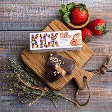 Энергетический арахисовый батончик в карамельном шоколаде