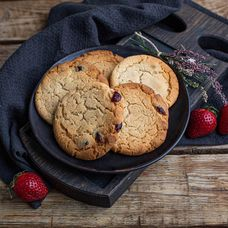 Американское печенье с сушеной клюквой, 5 шт. в упаковке