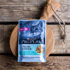 Purina Pro Plan Nutrisavour Sterilised влажный корм для стерилизованных кошек, с океанической рыбой в соусе