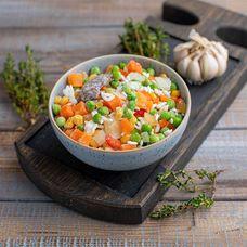 Замороженные овощи для жарки с рисом и шампиньонами