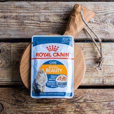 Влажный корм Royal Canin для красивой шерсти кошек, с желе