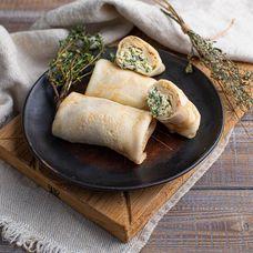 Блинчики с сыром Пармезан и зеленью, 3 шт. в упаковке