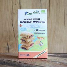 Детское печенье с яблочным мармеладом БИО