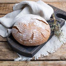 Ржаной бездрожжевой хлеб из дровяной печи