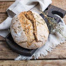 Злаковый бездрожжевой хлеб из дровяной печи