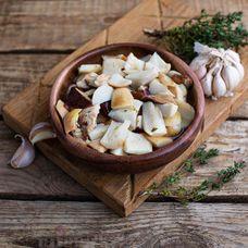 Грибы белые соленые резанные