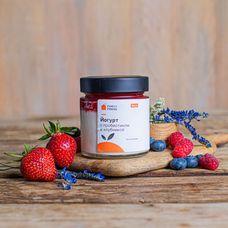 Йогурт натуральный с клубникой и пробиотиком 4,5%