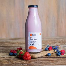 Натуральный питьевой йогурт с вишней 2%