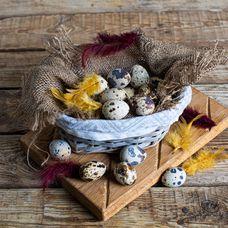 Перепелиные яйца фермерские, 20 шт. в упаковке