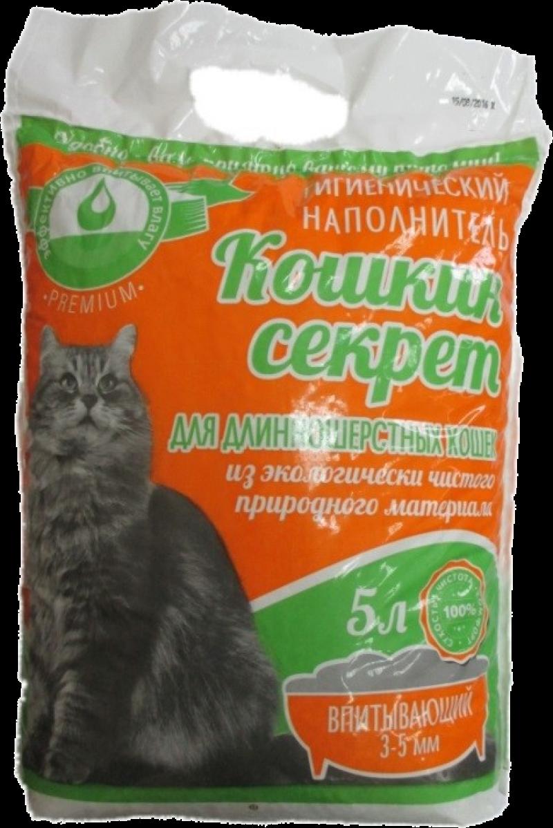 Наполнитель гигиенический Кошкин секрет для длинношерстных кошек Премиум 5л