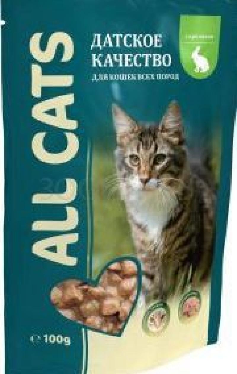 Корм ТМ ALL CATS для кошек Кролик в соусе 85г