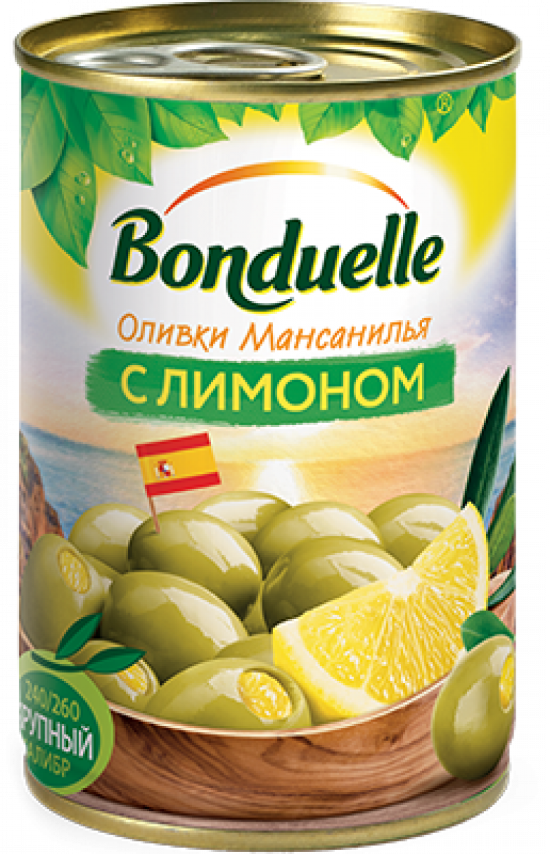 Оливки ТМ Bonduelle с лимоном 314мл