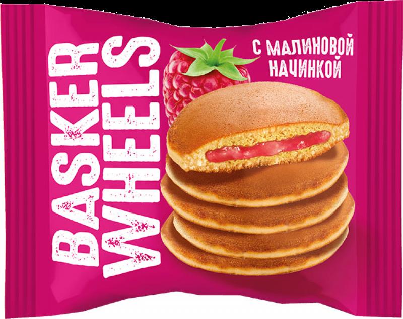 Пирожные ТМ Basker Wheels с малиновой начинкой 36г