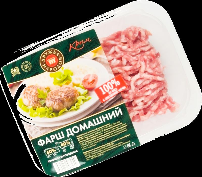 Фарш ТМ Дружба народов свино-говяжий домашний 0,4кг