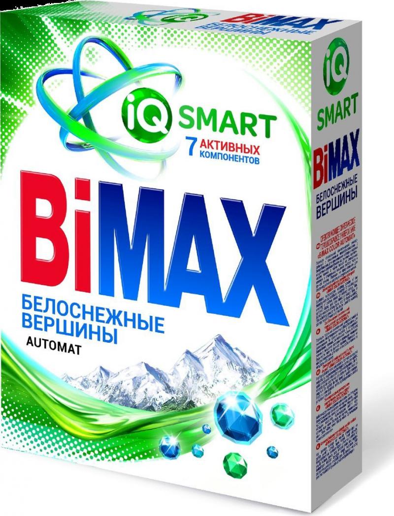 Порошок стиральный ТМ Bimax белоснежные вершины автомат 400г