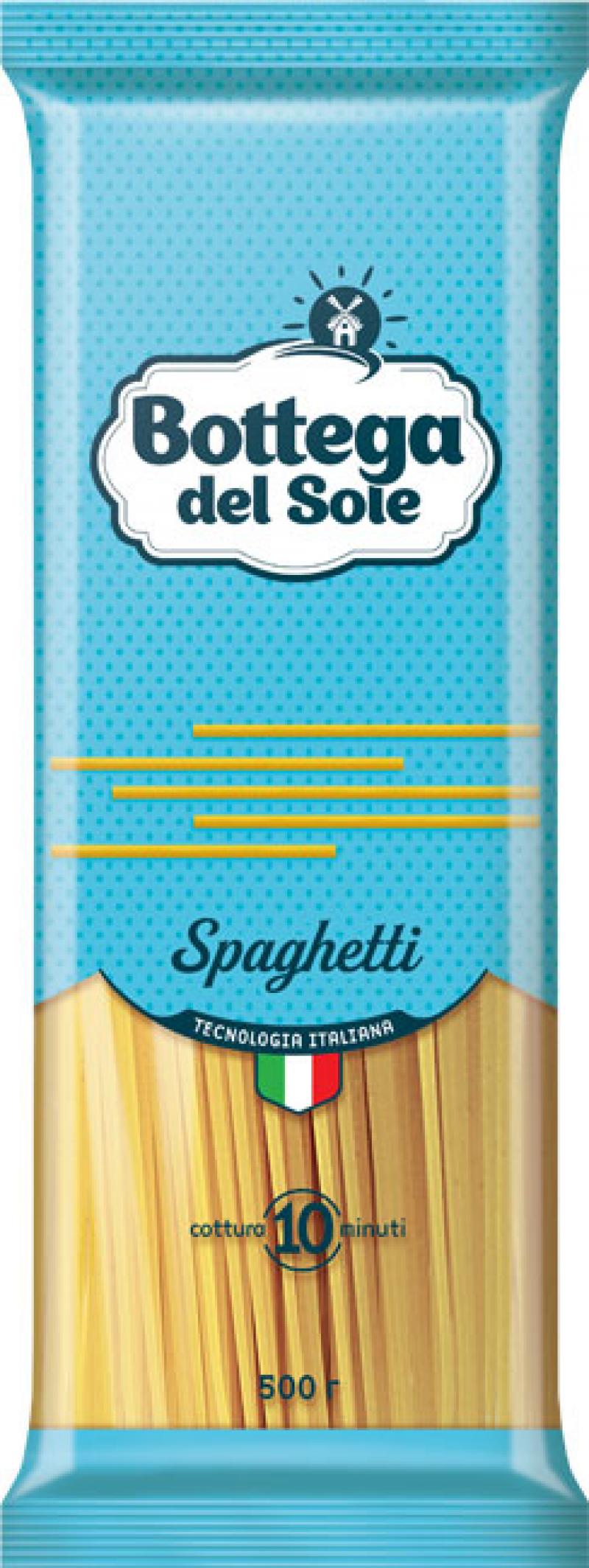 Макаронные изделия ТМ Bottega del Sole Спагетти 500г