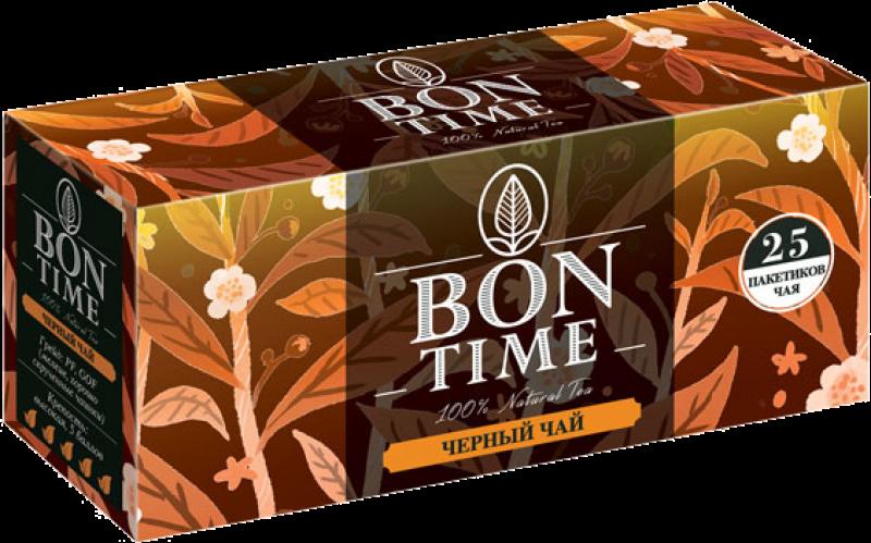 Чай ТМ Bontime черный 25 пакетов