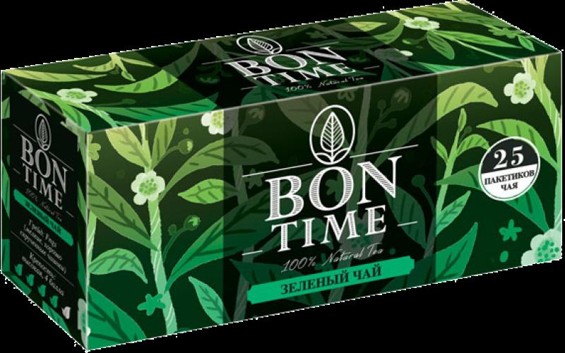 Чай ТМ Bontime зеленый 25 пакетов