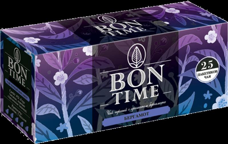 Чай ТМ Bontime черный с бергамотом 25 пакетов
